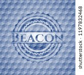beacon blue emblem or badge... | Shutterstock .eps vector #1197832468