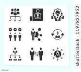 simple set of 9 icons related... | Shutterstock .eps vector #1197837952