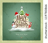 merry christmas vintage design... | Shutterstock .eps vector #119783866