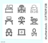 simple set of 9 icons related... | Shutterstock .eps vector #1197839158