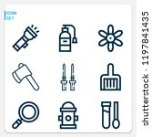 simple set of  9 outline icons... | Shutterstock .eps vector #1197841435