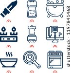 simple set of  9 outline icons... | Shutterstock .eps vector #1197841468
