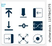 simple set of  9 filled icons... | Shutterstock .eps vector #1197841975