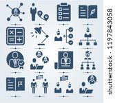 simple set of 16 icons related... | Shutterstock .eps vector #1197843058