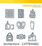 simple set of  9 outline icons... | Shutterstock .eps vector #1197843682