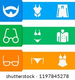 simple set of  9 filled icons... | Shutterstock .eps vector #1197845278