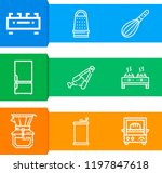 simple set of  9 outline icons... | Shutterstock .eps vector #1197847618