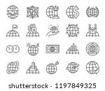 global business line icon set.... | Shutterstock .eps vector #1197849325