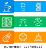 simple set of  9 outline icons... | Shutterstock .eps vector #1197855118