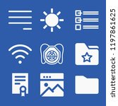 interface related set of 9... | Shutterstock . vector #1197861625