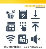simple set of  9 filled icons... | Shutterstock .eps vector #1197863122