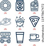 simple set of  9 outline icons... | Shutterstock .eps vector #1197867472