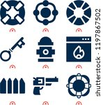 simple set of  9 filled icons... | Shutterstock .eps vector #1197867502