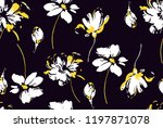 flowers design botanical floral ... | Shutterstock .eps vector #1197871078