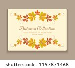 vector autumn background with...   Shutterstock .eps vector #1197871468