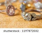 jewelry diamond rings on golden ... | Shutterstock . vector #1197872032
