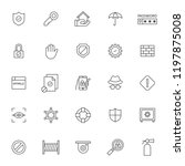 set of icon related of... | Shutterstock .eps vector #1197875008