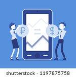 mobile currency exchange ... | Shutterstock .eps vector #1197875758