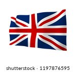 waving flag of the great... | Shutterstock . vector #1197876595