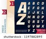 crystal font polygonal alphabet ... | Shutterstock .eps vector #1197882895