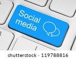 social media keyboard button | Shutterstock . vector #119788816