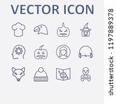 outline 12 head icon set. head... | Shutterstock .eps vector #1197889378