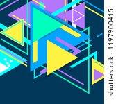 modern hipster triangle... | Shutterstock . vector #1197900415