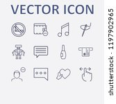 Outline 12 Finger Icon Set....