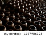 handmade pottery and jugs... | Shutterstock . vector #1197906325