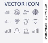 outline 12 signal icon set.... | Shutterstock .eps vector #1197911635