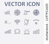 outline 12 signal icon set.... | Shutterstock .eps vector #1197911635