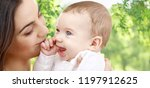 family and motherhood concept   ... | Shutterstock . vector #1197912625
