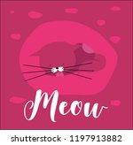cute vector cat illustration.... | Shutterstock .eps vector #1197913882