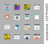 chatting icon set. vector set... | Shutterstock .eps vector #1197914452