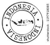 indonesia silhouette postal... | Shutterstock .eps vector #1197918085