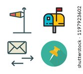 post icon set. vector set about ... | Shutterstock .eps vector #1197923602
