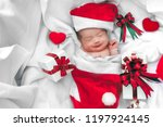 sleeping newborn baby face in... | Shutterstock . vector #1197924145
