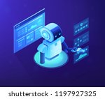 modern robot working with... | Shutterstock .eps vector #1197927325
