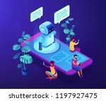 users with digital gadgets... | Shutterstock .eps vector #1197927475
