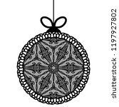 decorative lace christmas ball... | Shutterstock .eps vector #1197927802