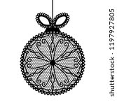 decorative lace christmas ball... | Shutterstock .eps vector #1197927805
