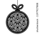 decorative lace christmas ball... | Shutterstock .eps vector #1197927808