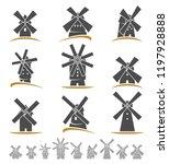 mill set. vector   Shutterstock .eps vector #1197928888