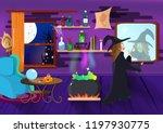 halloween  witch magic make up  ... | Shutterstock .eps vector #1197930775