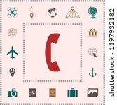 telephone handset  telephone... | Shutterstock .eps vector #1197932182