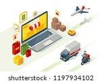 online shopping isometric... | Shutterstock .eps vector #1197934102