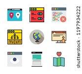 globe icon set. vector set... | Shutterstock .eps vector #1197934222