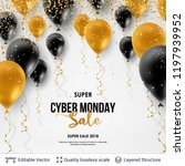 cyber monday sale background... | Shutterstock .eps vector #1197939952