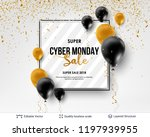cyber monday sale background... | Shutterstock .eps vector #1197939955