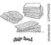 hand drawn sketch of crisp... | Shutterstock .eps vector #1197945205
